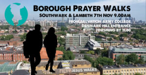 Borough Prayer Walks @ William Booth College